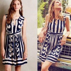    MAEVE    Small Blue & White Sennebec Dress